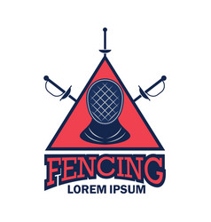 fencing logo with text space for your slogan vector image