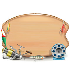 Fishing Board vector