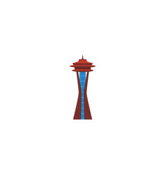 flat icon space needle element vector image