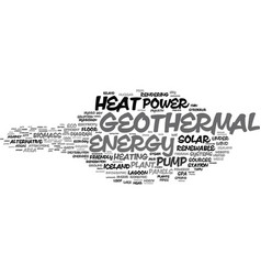 Geothermal word cloud concept vector