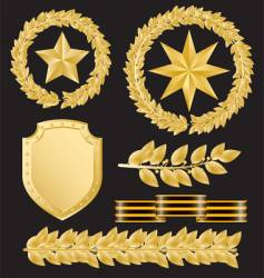 gold laurels vector image