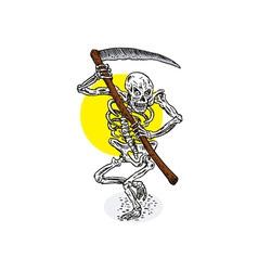 Grim Reaper Skeleton Stance vector image