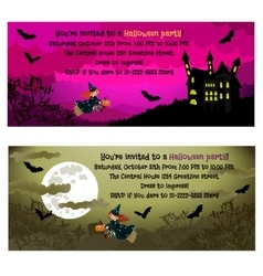 Halloween invitations vector