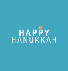 Hanukkah holiday greeting with dreidel icon and vector