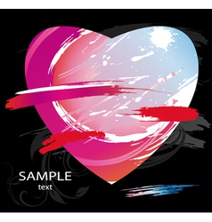 heart splashes vector image