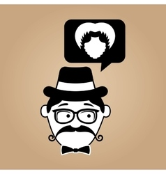 Hipster style bearded retro design vector