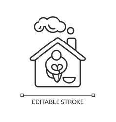 Homeless shelter linear icon vector