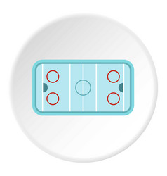Ice hockey rink icon circle vector
