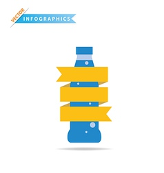 Infographics Drinks Business vector image vector image