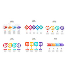 infographics set business concept with 4 vector image