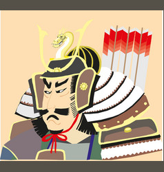 Japanese samurai graphic eps10 vector