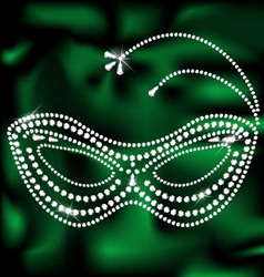 Jewelery mask vector