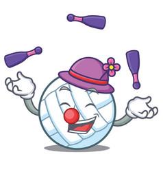 Juggling volley ball character cartoon vector