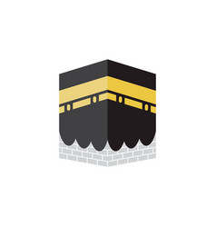 Kabah islamic graphic design template isolated vector