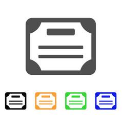 License flat icon vector