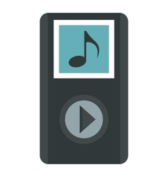MP3 player icon flat style vector