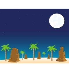Night in desert vector