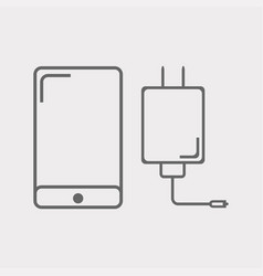 phone and charger icon vector image