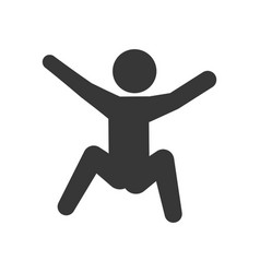 pictogram man silhouette doing exercise vector image