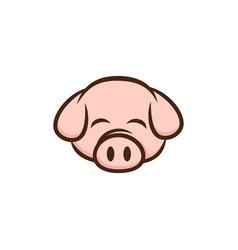 pig pork bacon theme cartoon sign vector image