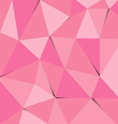 Pink polygon abstract triangle background vector