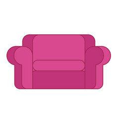 pink sofa isolated large soft pink couch on white vector image