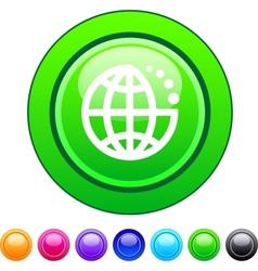 Planet circle button vector image