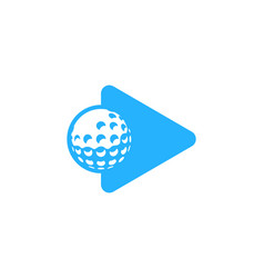 Play golf logo icon design vector