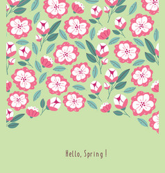 Postcard with spring flowers in bloom vector