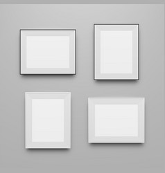 Realistic frames templates collection vector