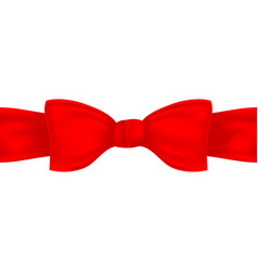 red textile bow and ribbon vector image