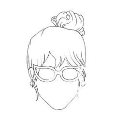 Retro woman cartoon vector