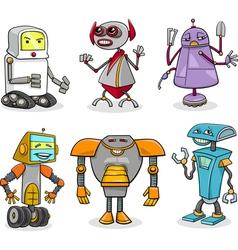 Robots cartoon set vector