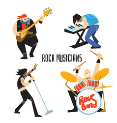Rock band music group with musicians vector