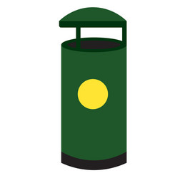 Rubbish bin flat design vector