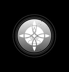 sacred flower and yoga logo design vector image
