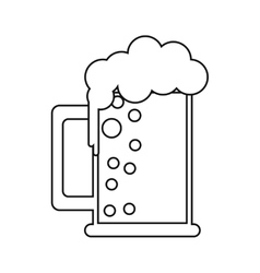 saint patrick day mug of beer foam bubbles cold vector image