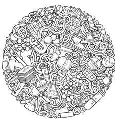 Science hand drawn doodles vector