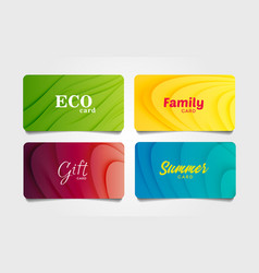 Set colourful cards or vouchers with abstract vector