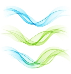 Set of abstract waves vector image