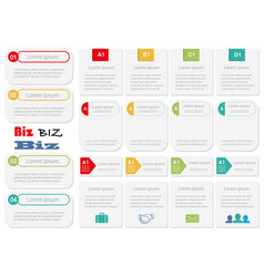 Set of assorted infographic templates vector