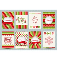 Set of christmas brochures templates vector