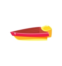 Simple Engine Toy Boat vector