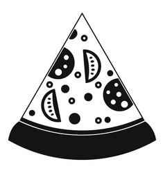 slice of pizza icon simple style vector image