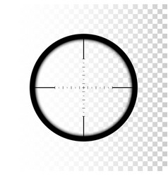 sniper scope focus on target through sniper scope vector image