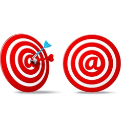 social media red darts target aim vector image