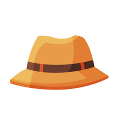 summer male hat traveling and tourism accessory vector image