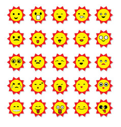 Sun emoticons image vector
