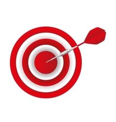 Target arrow success icon vector