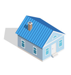 three dimensional icon small isometric house vector image